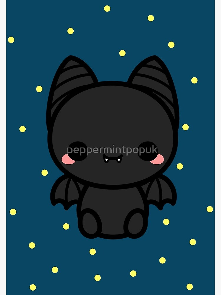 Cute spooky bat by peppermintpopuk