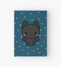 Cute spooky bat Hardcover Journal