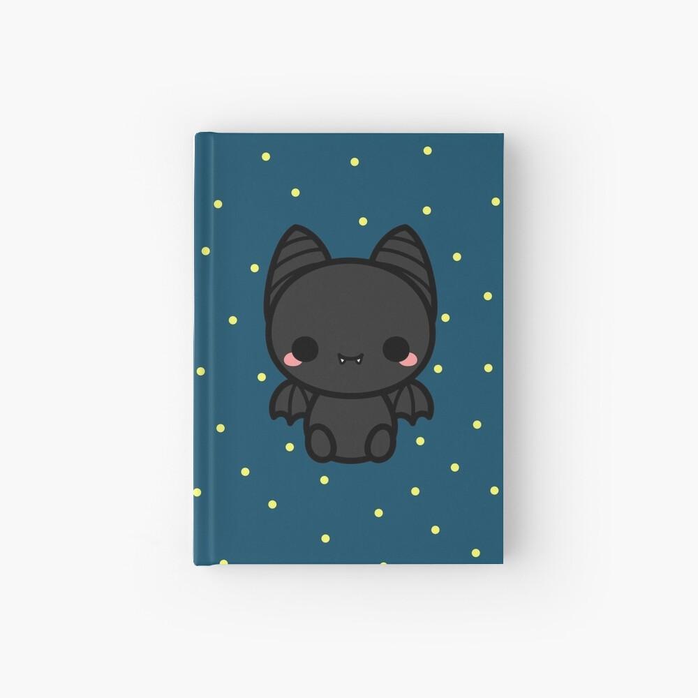 Cute spooky bat Hardcover Journal