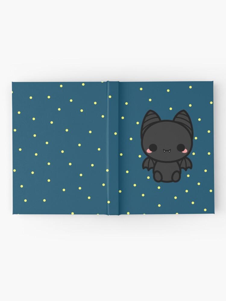 Alternate view of Cute spooky bat Hardcover Journal