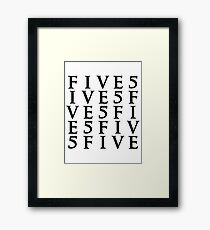 Five By Five Framed Print