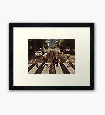 Monkey Road Framed Print