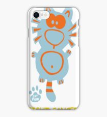 Fight Cancer Breast Cancer Awareness Cat iPhone Case/Skin