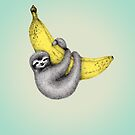 Bananas about You - on Sea Green by Perrin Le Feuvre