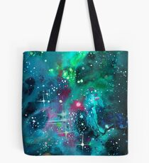 Emerald Nebula Tote Bag