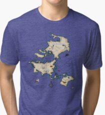 Mercator Map Tri-blend T-Shirt