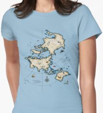 Mercator Map Womens Fitted T-Shirt