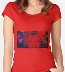 Red Autumn Leaves  Women's Fitted Scoop T-Shirt
