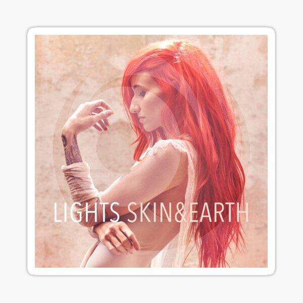 LIGHTS – Skin & Earth pop music sleeve art from the usa Glossy Sticker