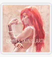 LIGHTS – Skin & Earth pop music sleeve art from the usa Transparent Sticker