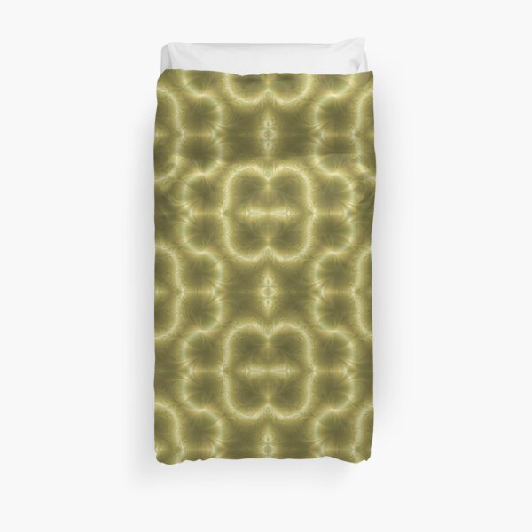 Groovy Green and Gold Paisley Duvet Cover