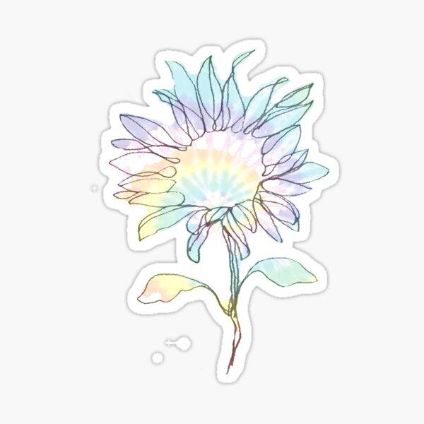 Tie Dye Sunflower Sticker