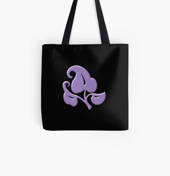 Purple Clover All Over Print Tote Bag