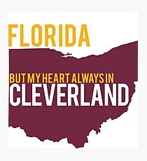 FLORIDA CLEVERLAND TSHIRT Photographic Print