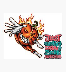 Foodietoon Halloween Havoc / Pumpkin / Being Awesome Photographic Print