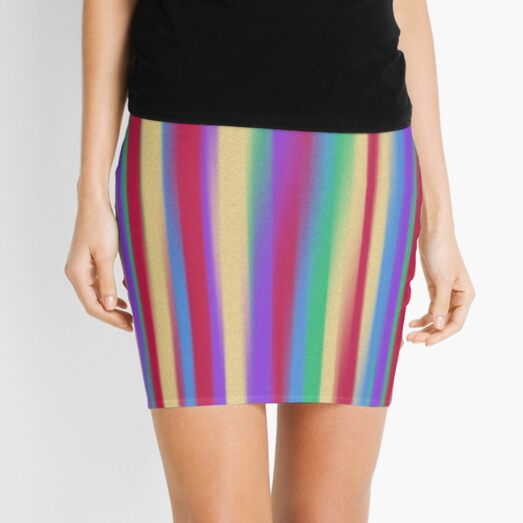 Colorful Stripes Mini Skirt