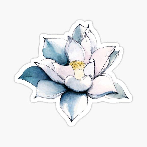 Blühender Lotus Sticker