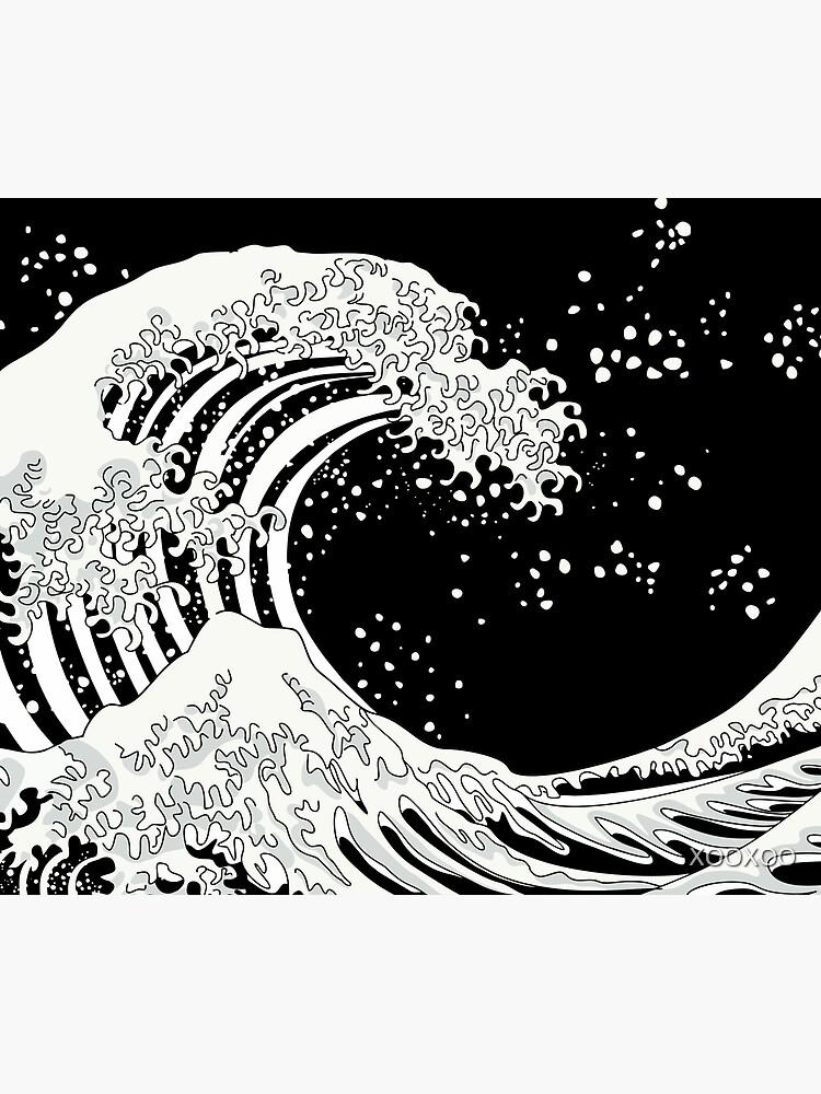 Schwarze und weiße große Welle von XOOXOO