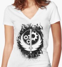 Brother hood of steel T-shirt Women's Fitted V-Neck T-Shirt