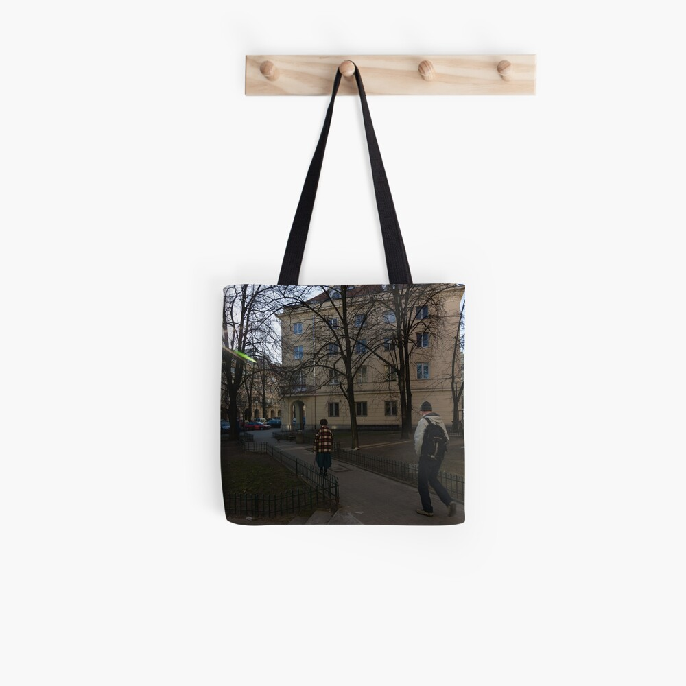 Out for a walk - Warsaw Poland Tote Bag