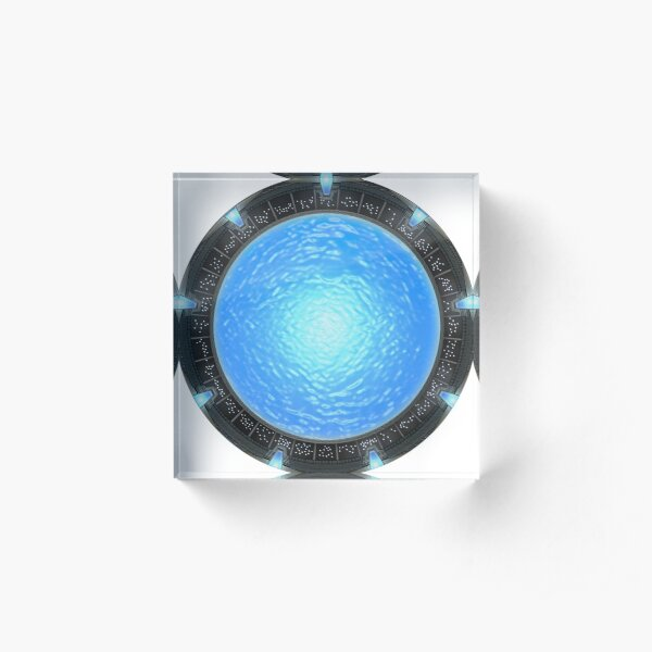 Stargate Atlantis Wormhole Portal Acrylic Block