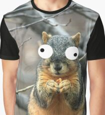 Googly Eye Squirrel - A723 Graphic T-Shirt