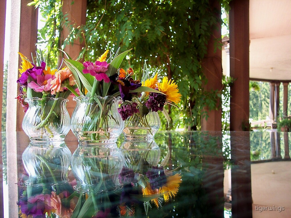 Flowers Reflection by tigerwings