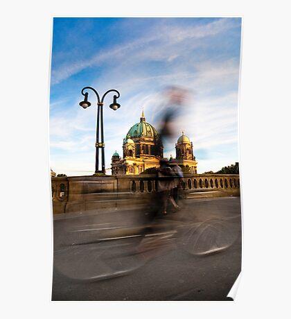 Radfahrer / Berliner Dom Poster