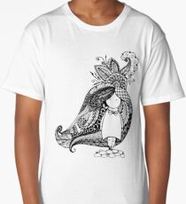 Cartoon character drawn in style of dudling Long T-Shirt