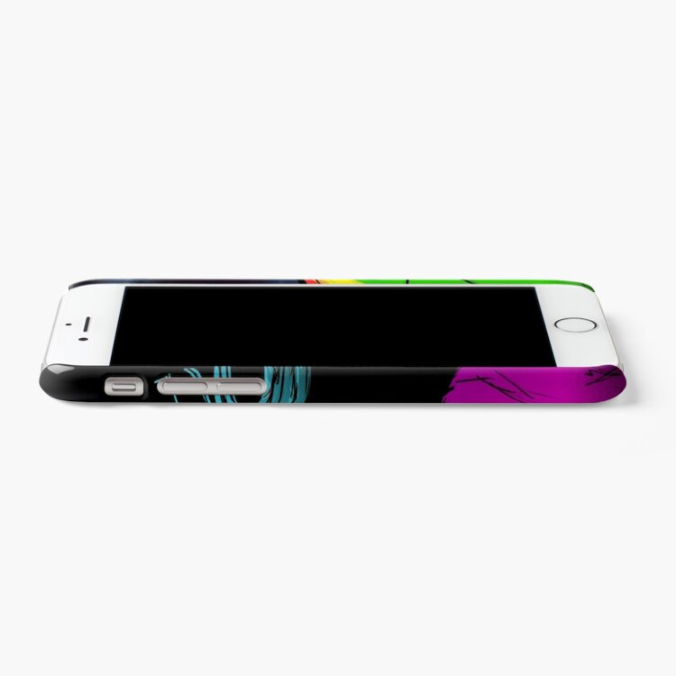 Alternate view of Unicorn puking rainbow iPhone Case & Cover