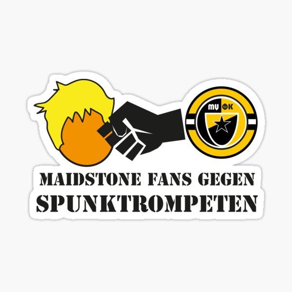 Maidstone Fans Gegen Spunktrompten Sticker