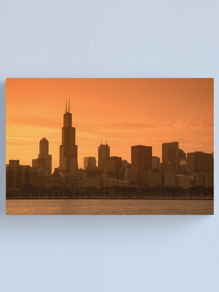 Alternate view of Chicago Skyline including Sears Tower (Alan Copson © 2007) Canvas Print