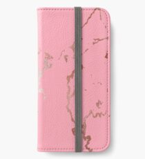 Luxurious Pink Marble 7 iPhone Wallet