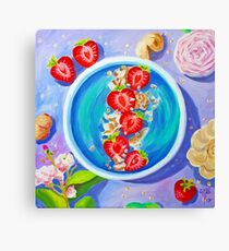 strawberries smoothie. oil on canvas Canvas Print