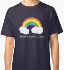 Love is Love is Love- Rainbow Classic T-Shirt