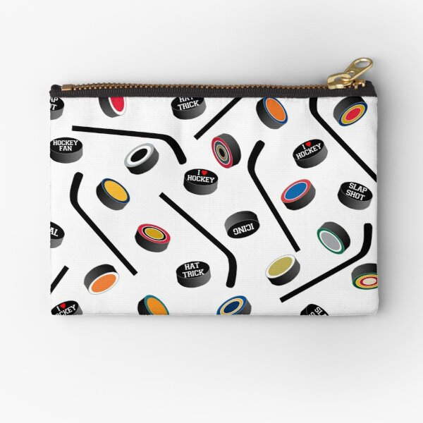 Let's Play Hockey! Zipper Pouch