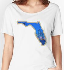 Miami Cut-Out Skyline Women's Relaxed Fit T-Shirt