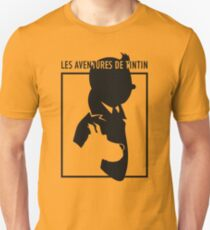tintin and snowy silouete  T-Shirt