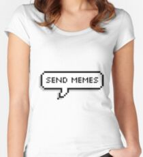 send memes Women's Fitted Scoop T-Shirt