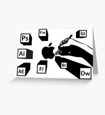 Adobe® Designer Suite—Black Greeting Card