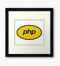 PHP developer - Superhero coder Framed Print