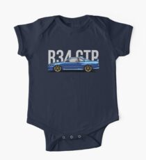 R34 Gtr Side View Kids Clothes