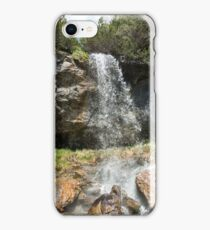 "Amazing view of ""Lady's waterfall"" in Bucegi mountains, Romania, spring day  iPhone Case/Skin"