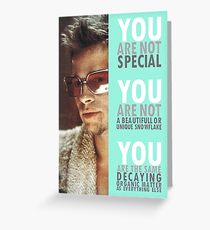 You Are Not Special Greeting Card