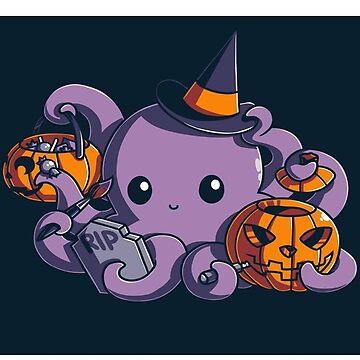 Squid - halloween - cute  by geeklink