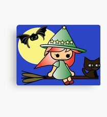 Celya Lela and Laly (halloween Magic Collection) Canvas Print