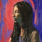 'Phoebe'. 50x40cm oil on composition board. Framed.  by Elizabeth Moore Golding