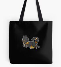 Candy Gore Wolf - Orange With Black Fur Tote Bag