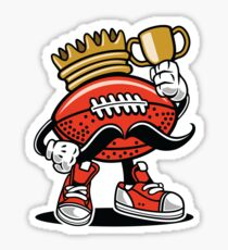 Anthropomorphic American Football Royalty Sticker