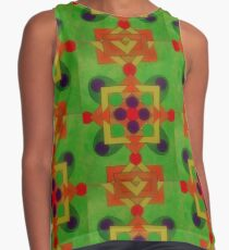 Pattern of coming autumn colours Contrast Tank